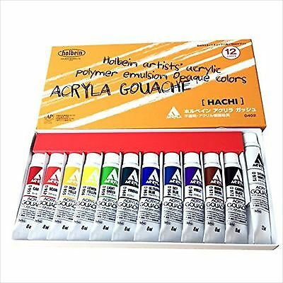 Holbein Acryla Gouache Colors Set HACHI 8ml 12 Colors D402