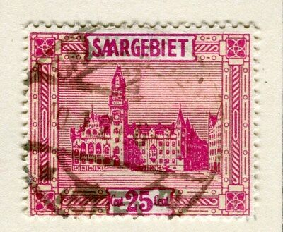 GERMANY SAAR;  1922 ( Mar ) Pictorial issue fine used 25pf. value