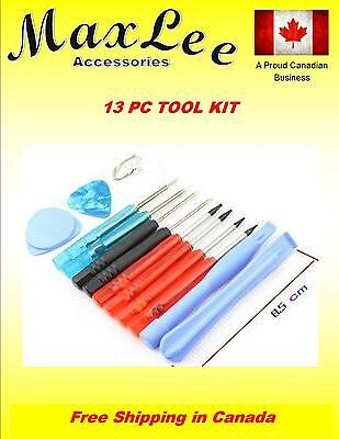 13PC Cell Phone Repair Tool Kit For All Cell Phones, iPhone Samsung HTC LG