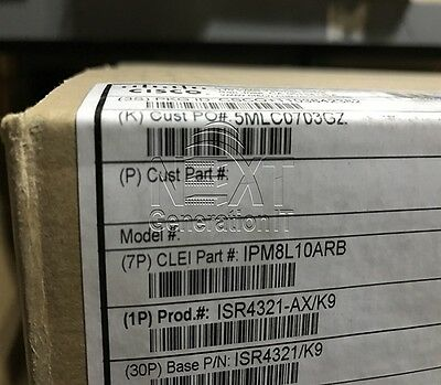 *NEW SEALED* Cisco ISR4321-AX/K9 ISR 4321 Router