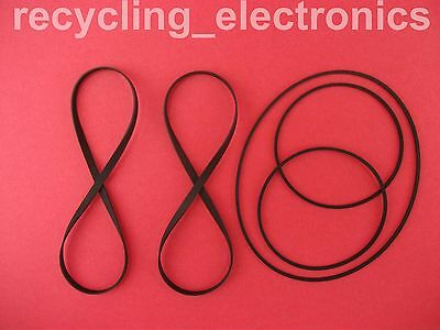 SONY MHC-RX77, MHCRX77 Drive Belt Kit For Cassette Deck (5 Belts)