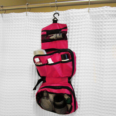 Evelots Travel Hanging Portable Toiletry Bag Organizer Shower Caddy