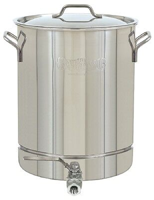 BAYOU CLASSIC STAINLESS STOCKPOT 16-Gallon w/Spigot & Vented Lid Steam Boil Brew
