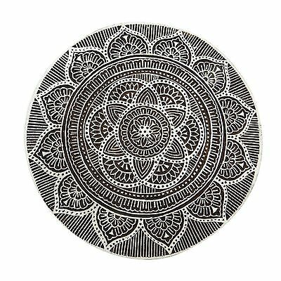 Indian Hand Carved 7 inches Wooden Printing Block Textile Stamp