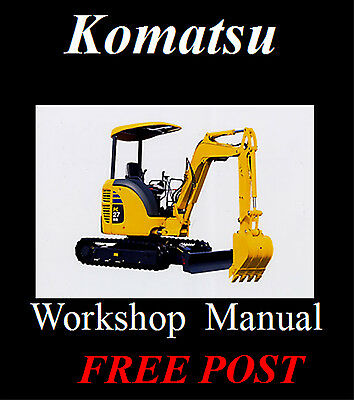 Komatsu Workshop, Operator And Maintenance Manuals On Cd - The Best !!