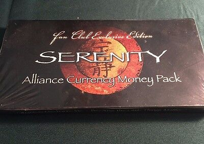 Serenity Alliance Currency Money Pack ~ Fan Club Exclusive Edition ~ QMx
