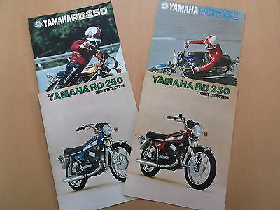 Yamaha RD250 RD350 Sales Brochure Assortment.