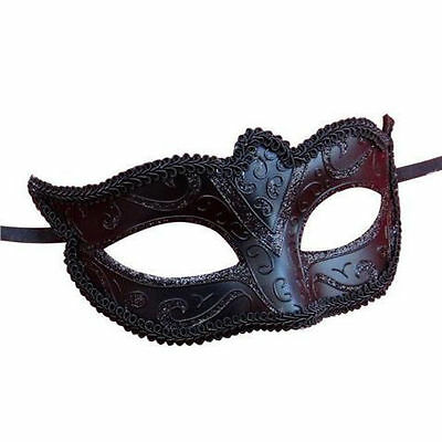 Mens Ladies Masquerade Ball Mask Venetian Party Eye Mask New Black Carnival
