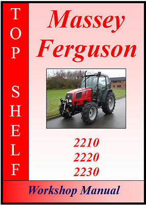 Massey Ferguson 2210, 2220, 2230 Workshop Service Repair Manual Cd