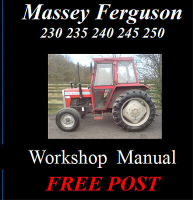 Massey Ferguson 230 235 240 245 250 Workshop Service Repair Manual On Cd