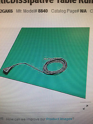 3M SCS 2' X 24' Rubber Dissipative Table Runner 8840 Anti-static mat grounding