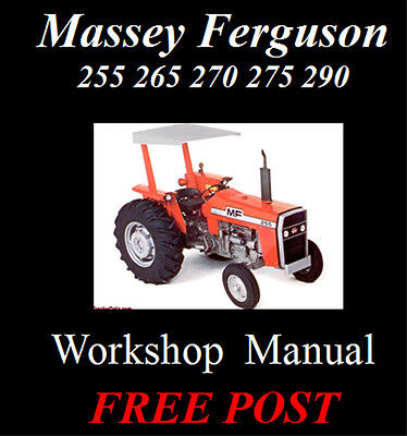 Massey Ferguson 255 265 270 275 290 Workshop Manual On Cd - The Best !!