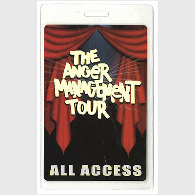 Anger Management authentic 2002-2003 concert tour Laminated Backstage Pass