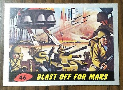 Mars Attacks 2012 Topps Heritage SILVER Parallel Card #46 Blast off for Mars