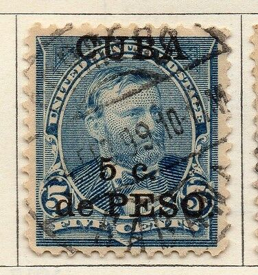 Spanish Caribbean 1899 Early Issue Fine Used 5c. Surcharged 113673