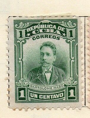 Spanish Caribbean 1911 Early Issue Fine Mint Hinged 1c. 113694
