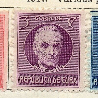 Spanish Caribbean 1917 Early Issue Fine Mint Hinged 3c. 113710