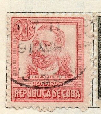 Spanish Caribbean 1917 Early Issue Fine Used 50c. 113715