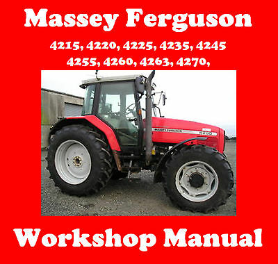 Massey Ferguson 4215 4220 4225 4235 4245 4255 4260 4263 4270 Workshop Manual Cd