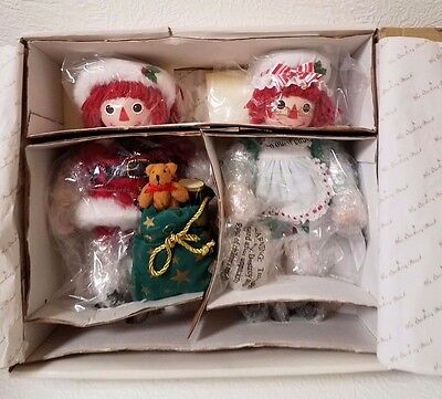 Danbury Mint Christmas With Raggedy Ann & Andy Santa Claus Mrs Tags New Unopened