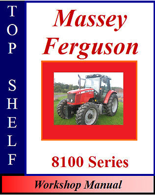 Massey Ferguson 8110 8120 8130 8140 8150 8160 Workshop Service Repair Manual Cd