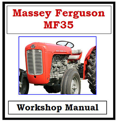 Massey Ferguson Mf35 Workshop Service Repair Manual On Cd