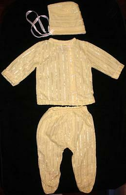 Vintage Styled By The Shepherd Size Small 3 Piece Baby Outfit Knit Polyester