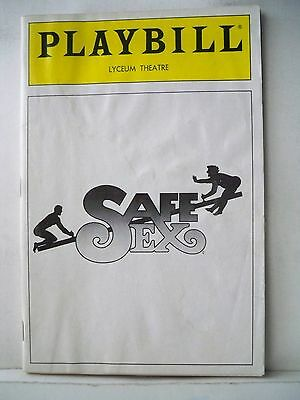 SAFE SEX Playbill HARVEY FIERSTEIN / JOHN WESLEY SHIPP Flop OPENING NYC 1987
