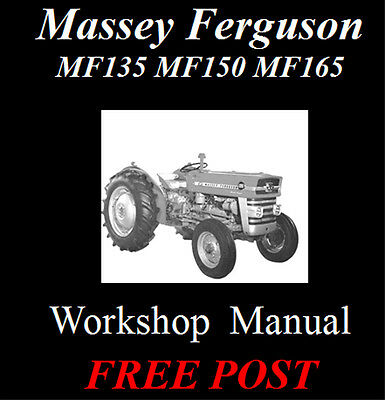 Massey Ferguson Mf135, Mf150, Mf165 Workshop Service Repair Manual On Cd