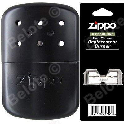 Zippo BLACK Refillable Hand Warmer wPouch & Additional Burner 40334 40285 44003