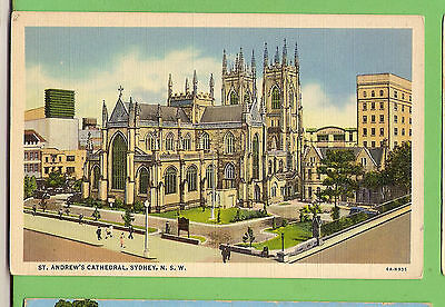 #c.  Church   Postcard -  St Andrews Cathedral, Sydney