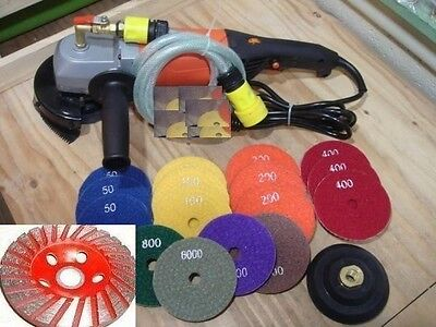 Wet Polisher Polishing 12 Pad & Grinding Cup Concrete sander Granite travertine