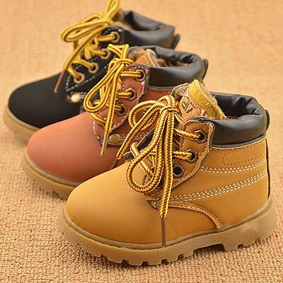 Baby Kids Boys Girls Winter Warm Ankle Snow Boots Children Faux Fur Casual Shoes