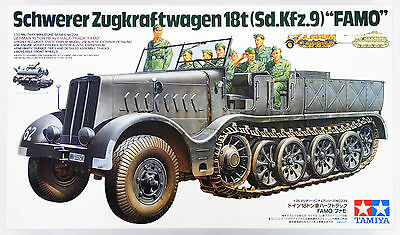 "Tamiya 35239 German 18Ton Heavy Half-Track ""Famo"" 1/35 Scale Kit"
