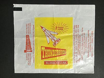 THUNDERBIRDS RARE TRADING CARD WRAPPER FROM 1960's