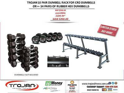 Dumbbel Rack 2 Tier Commercial Heavy Duty 10 Pairs CRD's
