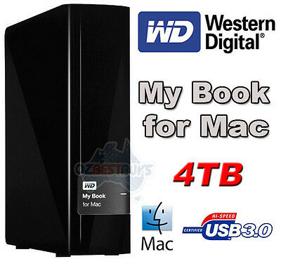 Western Digital WD My Book for Mac 4TB External Desktop USB 3.0 Hard Disk Drive