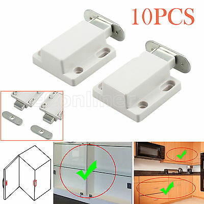 10pcs Push To Open Magnetic Pressure Touch Release Kitchen Cabinet Doors Catches