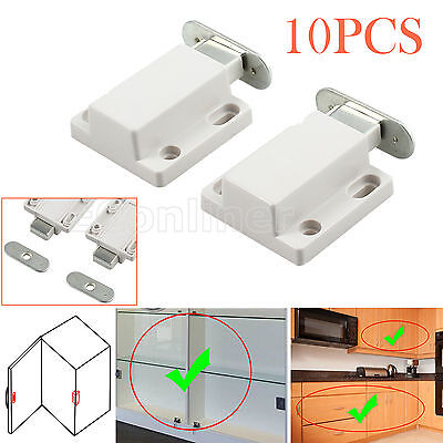 10pcs Push To Open Touch Release Magnetic Pressure Kitchen Cabinet Doors Catches