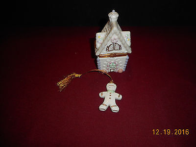 Lenox Treasures Gingerbread Holiday Surprise Trinket Box First Issue With Orn