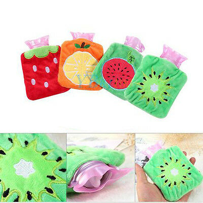 Cartoon Hot Water Bottle Bag Warm Relaxing Heat Cold Therapy Gift Watermelon ES