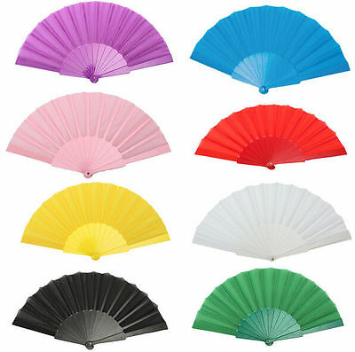 Chinese Decor Party Hand Japanese Portable Folding Plastic Fan Wedding Dancing
