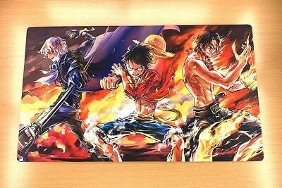 D939 FREE MAT BAG Sabo Luffy Ace ONE PIECE TCG Playmat Desk Mat Large Mouse Pad