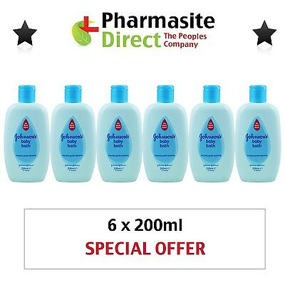 Bulk Buy - 6 x 200ml Johnson's Everyday Baby Bath - Free Delivery