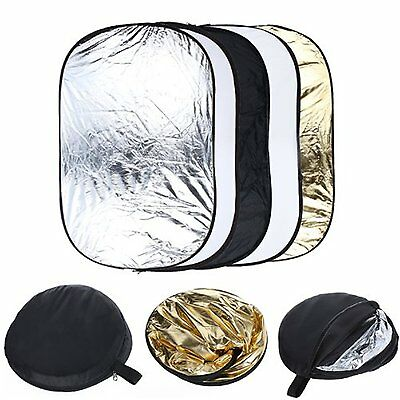 5 in 1 Portable Photography Studio Multi Photo Collapsible Light Reflector FK