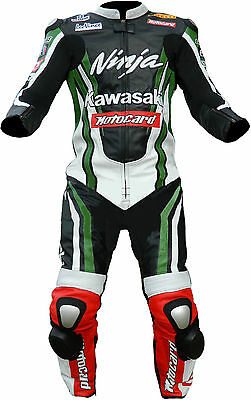 Kawasaki Motogp Racing Motorcycle Leather Suit Motorbike Leather Jacket Trouser