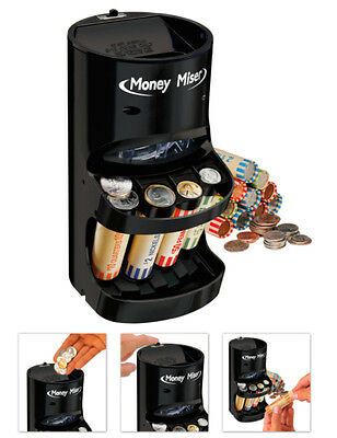 Coin Sorter Change Counter Machine Motorized Money Roller Auto Includes Wrappers