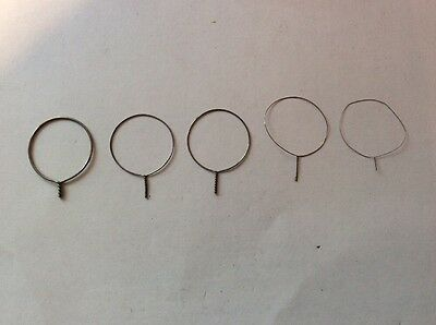 """5x 1"""" DIA Fine Delicate Wire Hoops Circles - Art Craft Display"""
