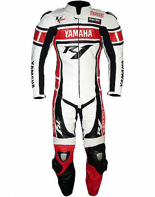 Yamaha R1 Motorcycle Leather Suit Moto Gp Men Motorbike Leather Jacket Trouser