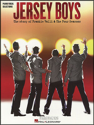 Jersey Boys Piano Vocal Selections Frankie Valli & The Four Season Music Book